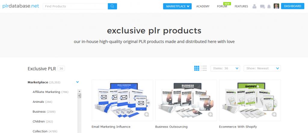 PLR Database Exclusive PLR Content Range