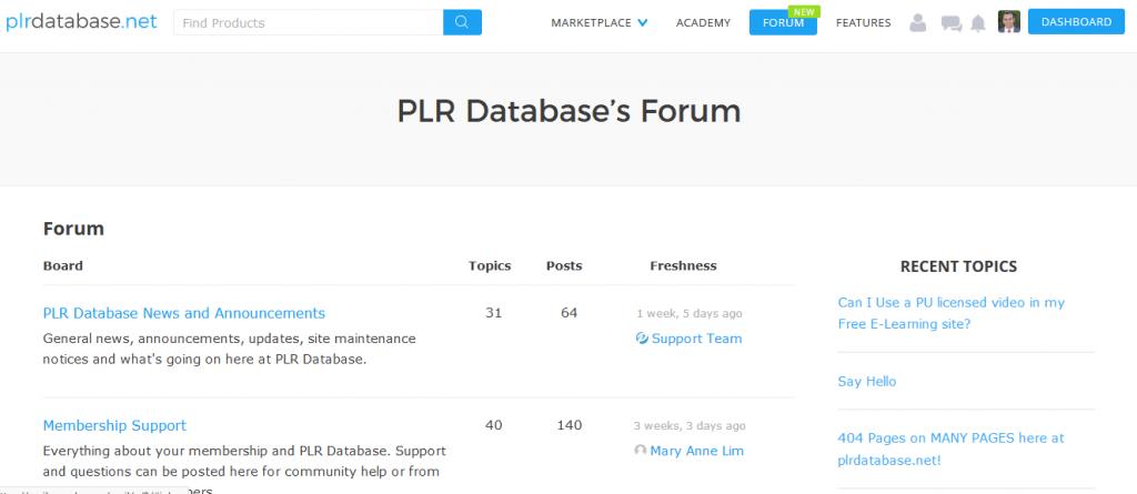PLR Database Helpful PLR Forum
