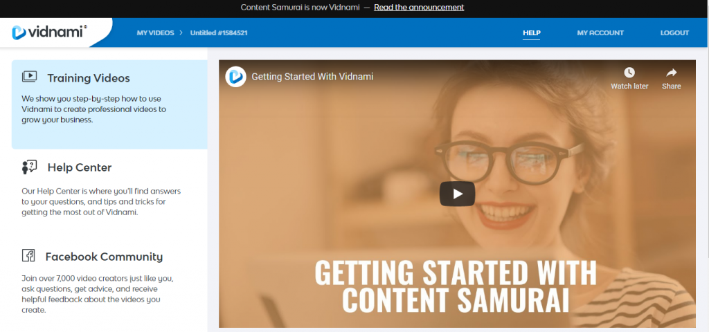How to Use Vidnami Vidnami help centre and training