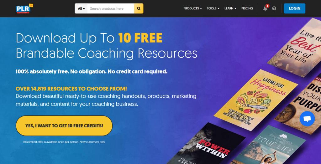 Free Brandable PLR Coaching Content at PLR.ME