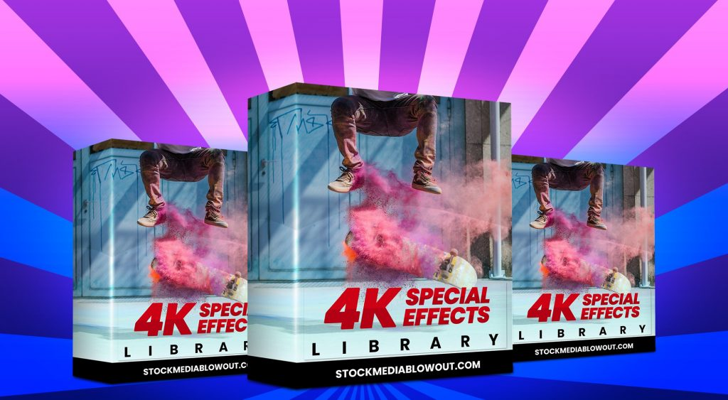 Stock Media Blowout 4K Special Effects Library