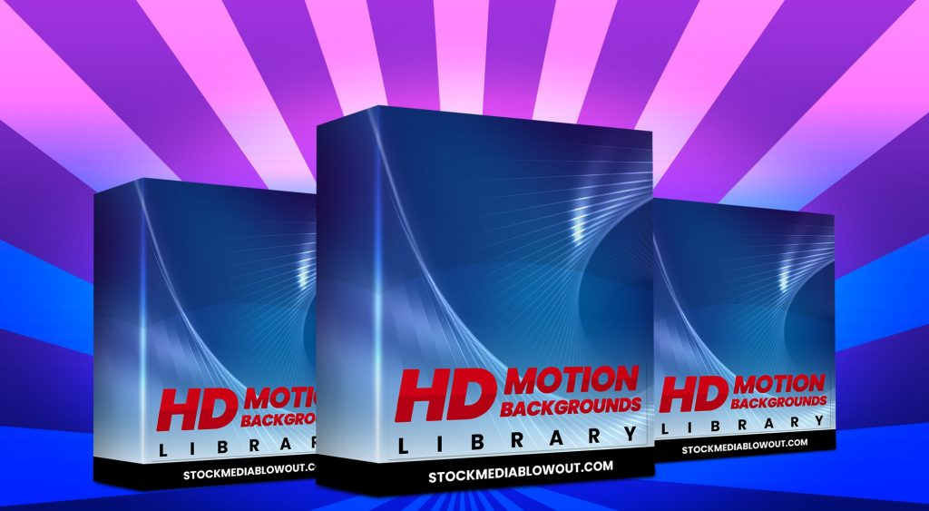 Stock Media Blowout HD Motion Backgrounds Library