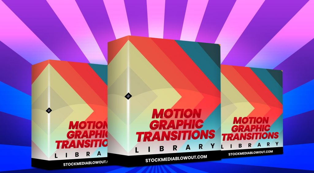 Stock Media Blowout Motion Graphic Transitions
