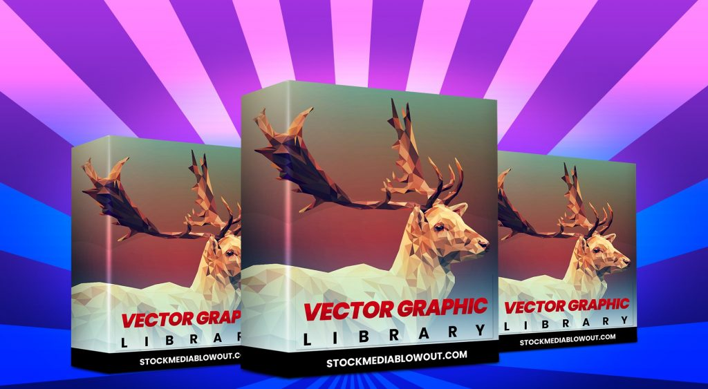 Stock Media Blowout Vector Graphics Library