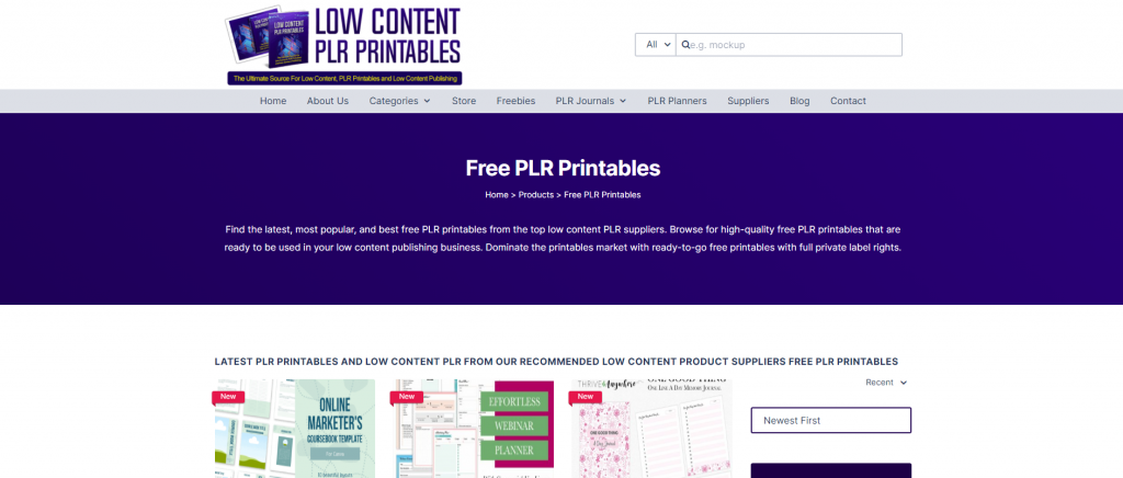Free PLR Printables and Low Content PLR