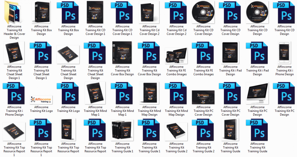 Affincome Training Kit Professionally Designed Graphics