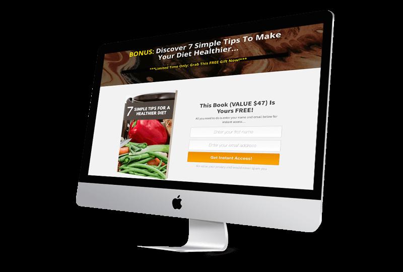 Healthy Habits Landing Page