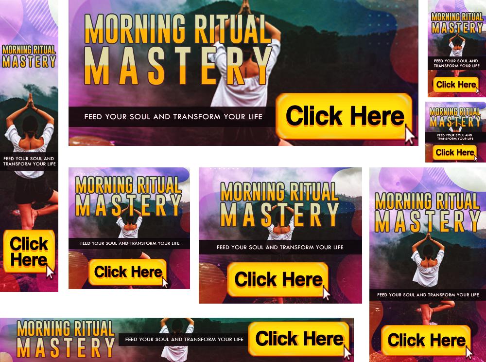 Morning Ritual Mastery Banners