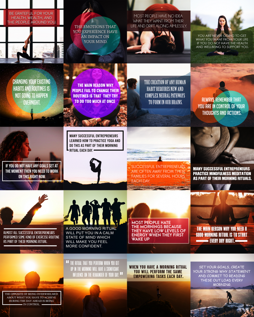 Morning Ritual Mastery Social Media Images