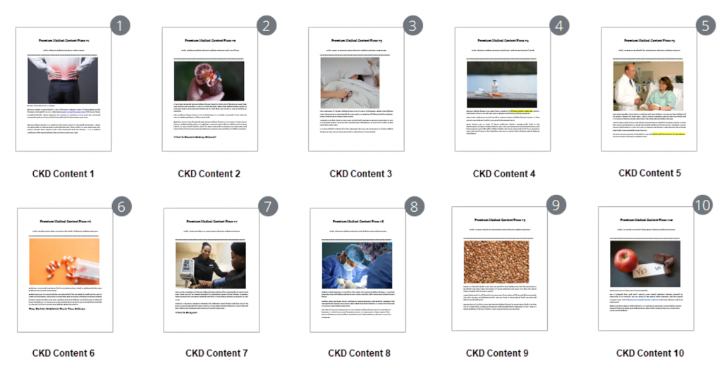 Premium Medical PLR Content By Doctor Loy Chronic Kidney Disease Images