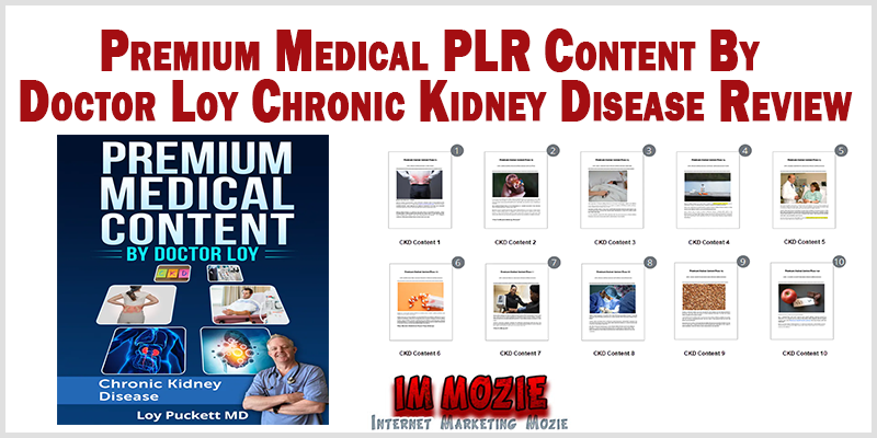 Premium Medical PLR Content By Doctor Loy Chronic Kidney Disease Review