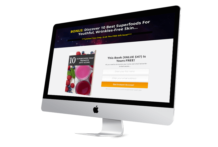 Fountain Of Youth Landing Page