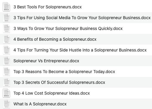 Solopreneur Success Articles