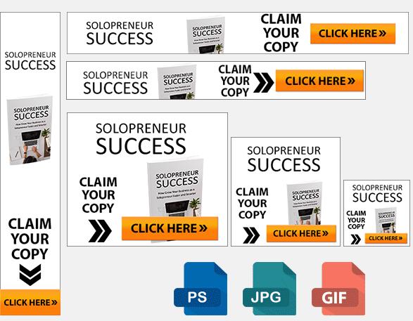 Solopreneur Success Banners