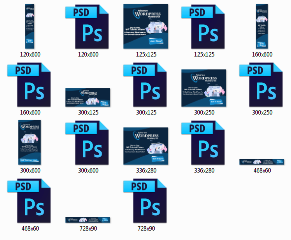Advance WordPress Mastery Animated Banners