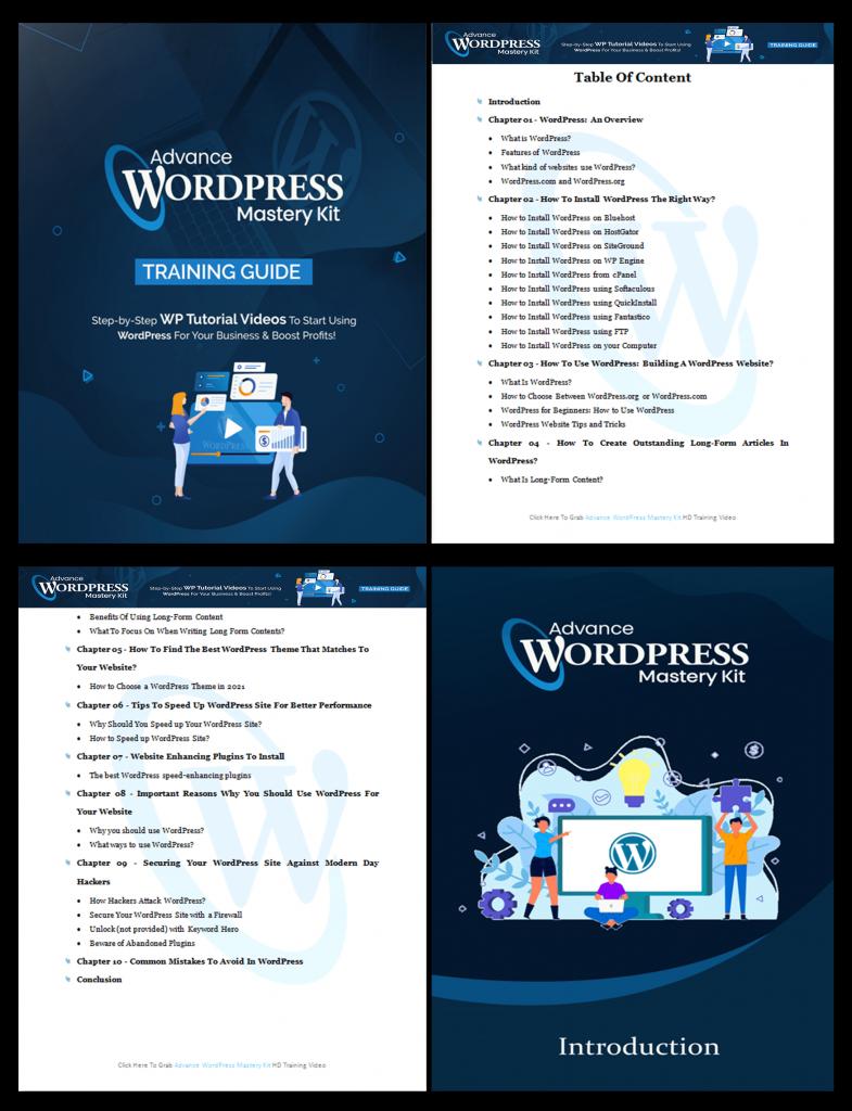 Advance WordPress Mastery Training Guide