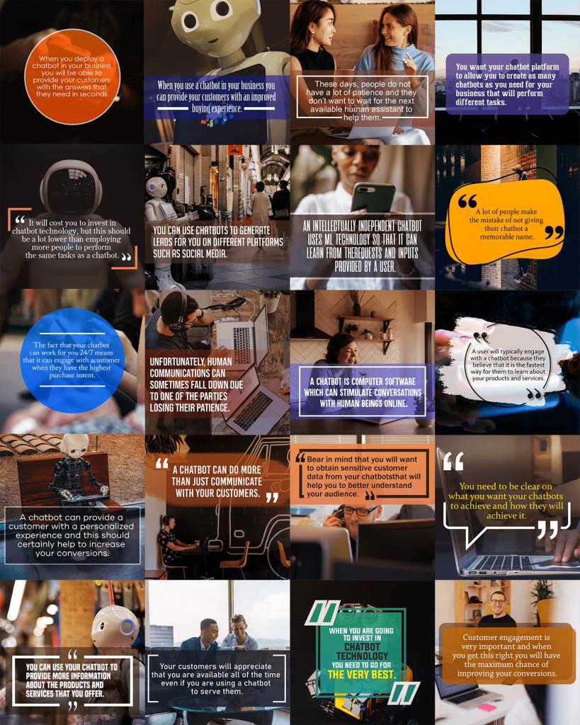 Chatbot Marketing Secrets Social Media Images