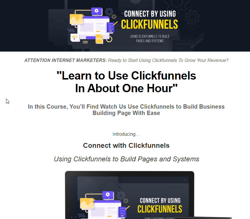 Connect with Clickfunnels Sales Page