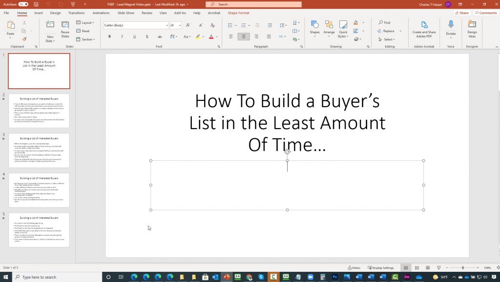 Create a Repeat Launch System PowerPoint Script