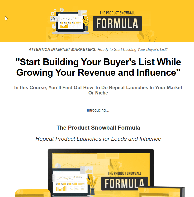 Create a Repeat Launch System Sales Page