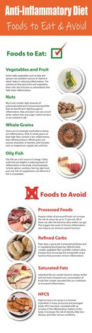 Dietary Health Different Types of Diets Anti Inflammatory Infographic