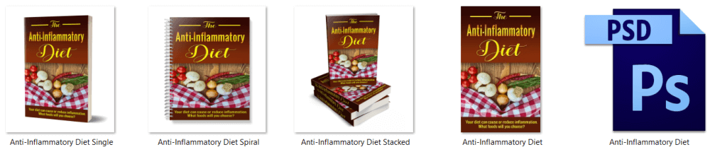 Dietary Health Different Types of Diets Anti Inflammatory eCover Graphics