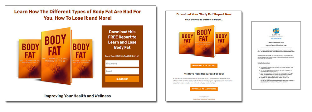 Dietary Health Different Types of Diets Body Fat PLR Report Squeeze Page