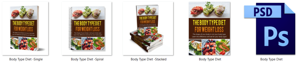 Dietary Health Different Types of Diets Body Type Diet PLR Report eCover Graphics