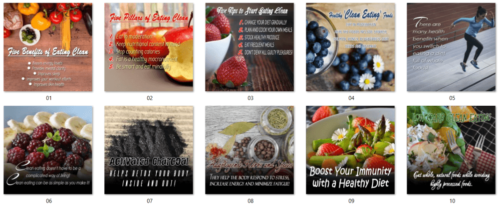 Dietary Health Different Types of Diets Bonus Social Posters Pack 2