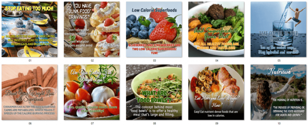Dietary Health Different Types of Diets Clean Eating PLR Social Posters 1