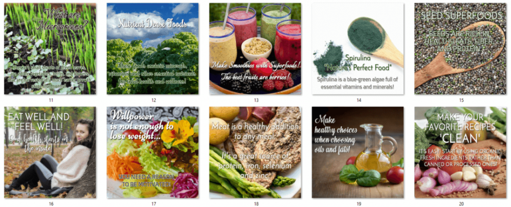 Dietary Health Different Types of Diets Clean Eating PLR Social Posters 2