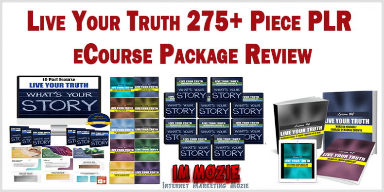 Live Your Truth 275 Piece PLR eCourse Package Review