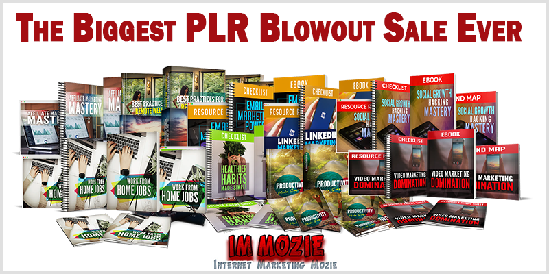 The Biggest PLR Blowout Sale Ever