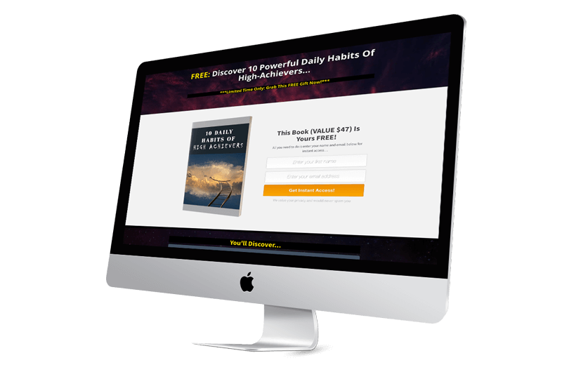 Simple Habits Of Greatness Landing Page